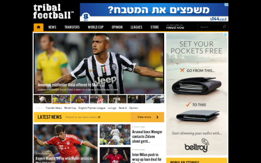 Access tribalfootball.com using Hola Unblocker web proxy