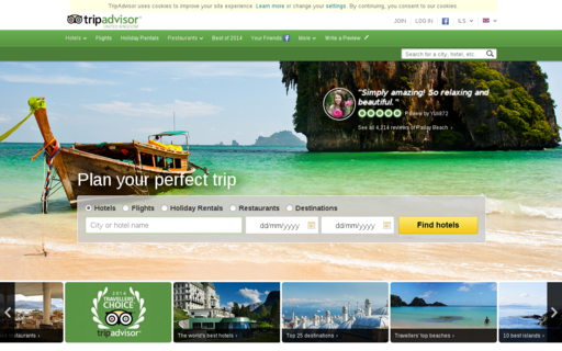 Access tripadvisor.co.uk using Hola Unblocker web proxy