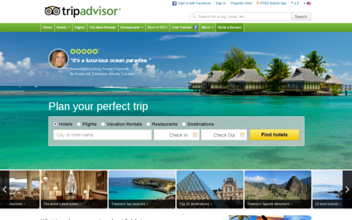 Access tripadvisor.com using Hola Unblocker web proxy