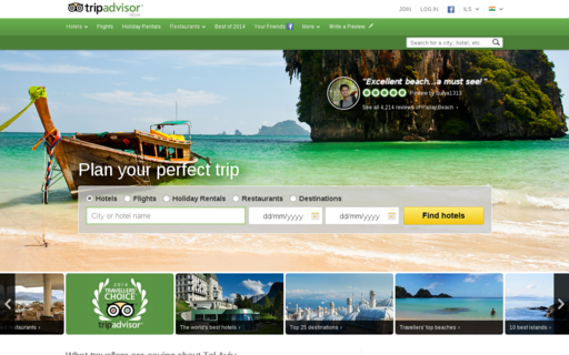 Access tripadvisor.in using Hola Unblocker web proxy