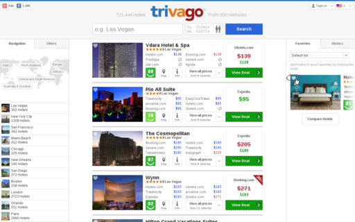 Access trivago.com using Hola Unblocker web proxy