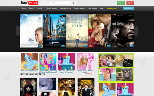 Access tunemovie.com using Hola Unblocker web proxy