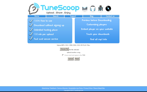 Access tunescoop.com using Hola Unblocker web proxy