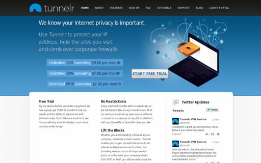 Access tunnelr.com using Hola Unblocker web proxy