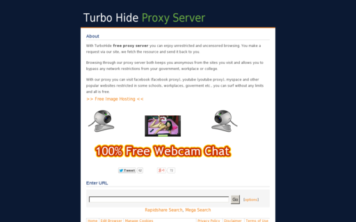 Access turbohide.com using Hola Unblocker web proxy