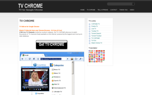 Access tv-chrome.com using Hola Unblocker web proxy