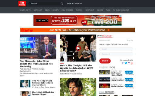 Access tvguide.com using Hola Unblocker web proxy