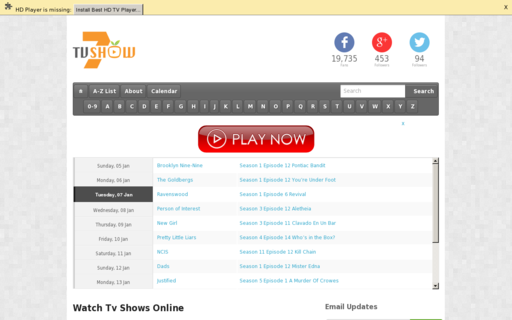 Access tvshow7.eu using Hola Unblocker web proxy