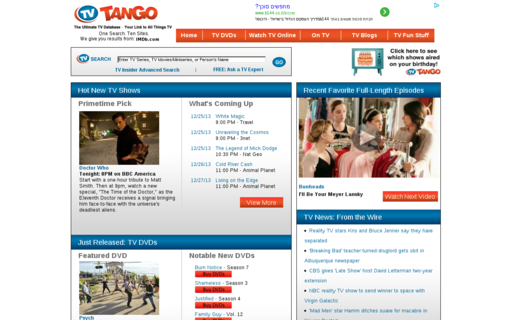 Access tvtango.com using Hola Unblocker web proxy
