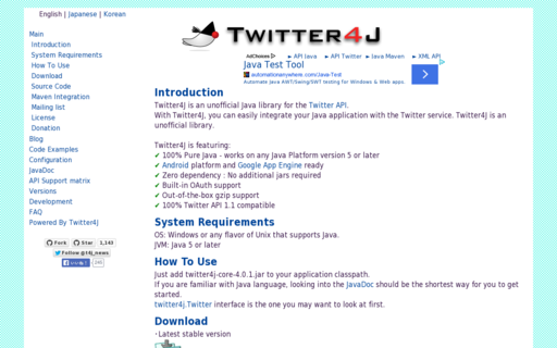 Access twitter4j.org using Hola Unblocker web proxy