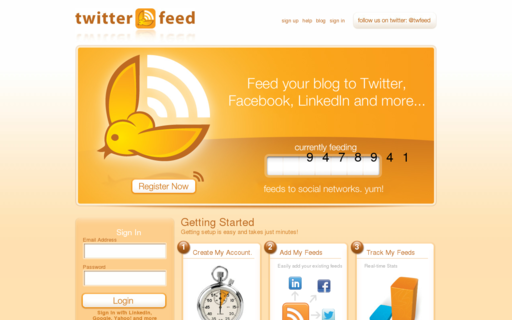 Access twitterfeed.com using Hola Unblocker web proxy