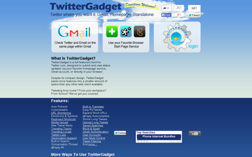 Access twittergadget.com using Hola Unblocker web proxy