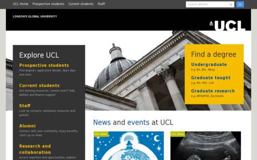 Access ucl.ac.uk using Hola Unblocker web proxy