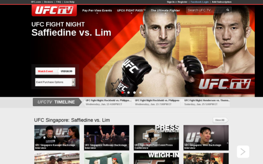 Access ufc.tv using Hola Unblocker web proxy