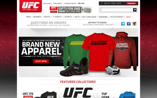 Access ufcstore.com using Hola Unblocker web proxy