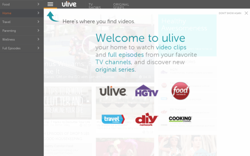 Access ulive.com using Hola Unblocker web proxy