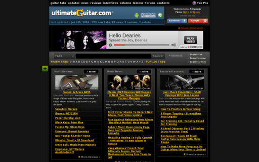 Access ultimate-guitar.com using Hola Unblocker web proxy