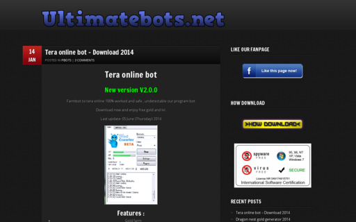 Access ultimatebots.net using Hola Unblocker web proxy