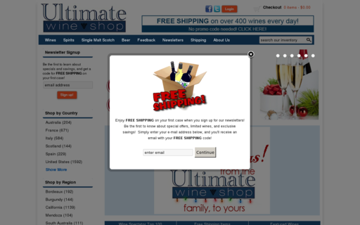Access ultimatewineshop.com using Hola Unblocker web proxy