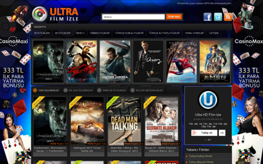 Access ultrafilmizle.com using Hola Unblocker web proxy