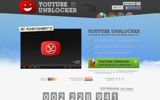 Access unblocker.yt using Hola Unblocker web proxy