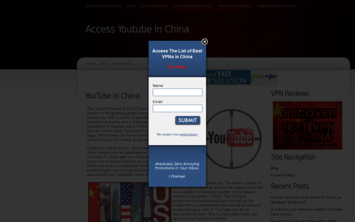Access unblockyoutubeinchina.info using Hola Unblocker web proxy
