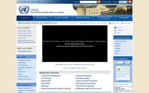 Access unog.ch using Hola Unblocker web proxy