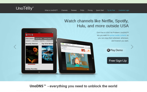 Access unotelly.com using Hola Unblocker web proxy