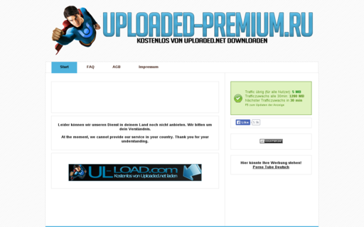 Access uploaded-premium.ru using Hola Unblocker web proxy