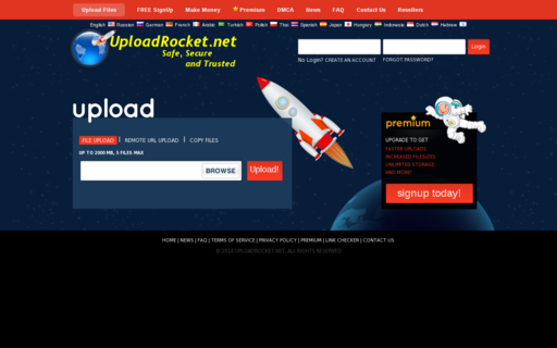 Access uploadrocket.net using Hola Unblocker web proxy