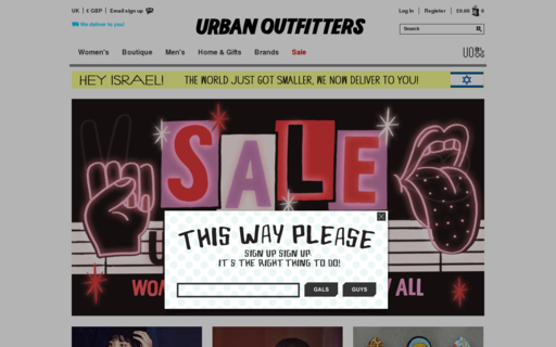 Access urbanoutfitters.co.uk using Hola Unblocker web proxy