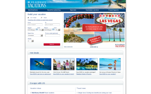 Access usairwaysvacations.com using Hola Unblocker web proxy