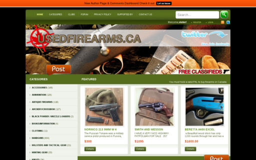 Access usedfirearms.ca using Hola Unblocker web proxy