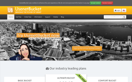 Access usenetbucket.com using Hola Unblocker web proxy