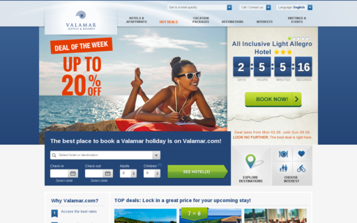 Access valamar.com using Hola Unblocker web proxy