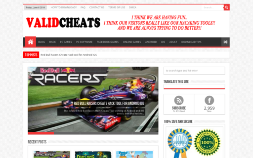 Access validcheats.com using Hola Unblocker web proxy
