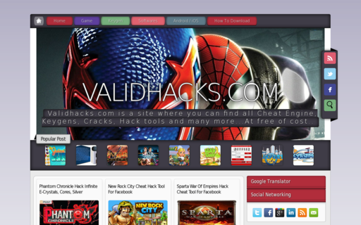 Access validhacks.com using Hola Unblocker web proxy