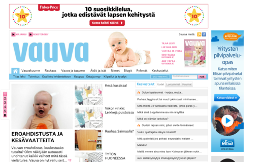 Access vauva.fi using Hola Unblocker web proxy