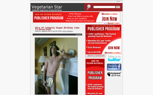 Access vegetarianstar.com using Hola Unblocker web proxy