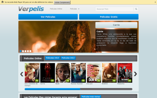 Access ver-pelis.net using Hola Unblocker web proxy