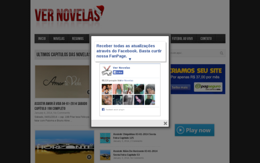 Access vernovelas.com.br using Hola Unblocker web proxy