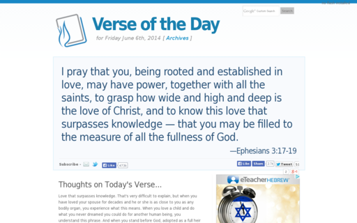 Access verseoftheday.com using Hola Unblocker web proxy