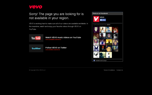 Access vevo.com using Hola Unblocker web proxy
