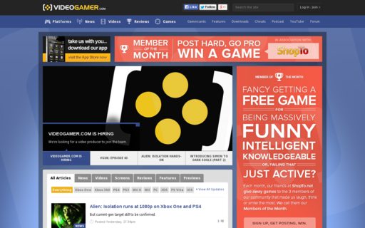 Access videogamer.com using Hola Unblocker web proxy