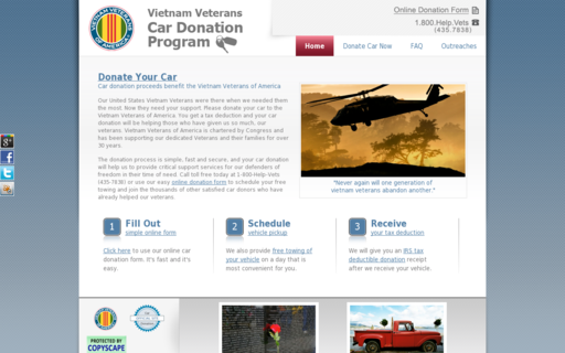 Access vietnamveteranscardonation.org using Hola Unblocker web proxy