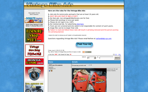 Access vintagebikeads.com using Hola Unblocker web proxy