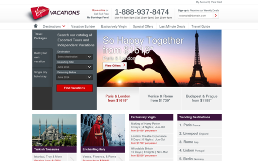 Access virgin-vacations.com using Hola Unblocker web proxy