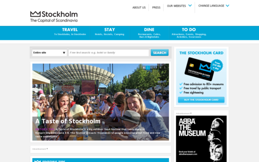 Access visitstockholm.com using Hola Unblocker web proxy