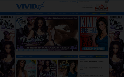 Access vivid.com using Hola Unblocker web proxy