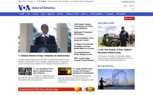 Access voanews.com using Hola Unblocker web proxy